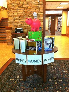 Great display alongside financial literacy programs.   Money Money Money by Kathi Fly, via Flickr