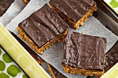 Caramel chocolate biscuit square recipe, NZ Womans Weekly – The caramel condensed milk gives it great flavour You can have it as is but chocolate adds to the decadence - Eat Well (formerly Bite) Chocolate Biscuits, Chocolate Caramels, Chocolate Recipes, Orange Recipes, Sweet Recipes, Coconut Lime Cake, Sticky Date Pudding, Baked Fish, Stuffed Sweet Peppers