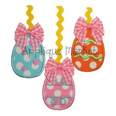 Machine Embroidery Design Applique Easter Eggs with by tmmdesigns, $4.00