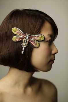 dragonfly hair pin