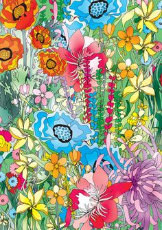 Surface design - Floralfull by Ella Tjader, via Behance  Love this girl's work! Beautiful