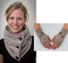 Combo Infinity ... by Gina Renee | Sewing Pattern - Looking for your next project? You're going to love Combo Infinity Scarf & Fingerless Glove by designer Gina Renee. - via @Craftsy