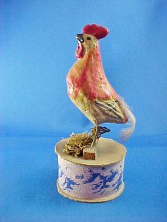 Antique Composition Rooster Candy Container by AmericanaAntiques, $150.00