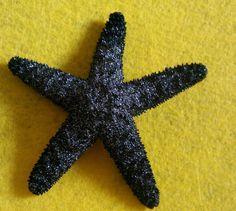 Black black Starfish ocean Beach wedding by msformaldehyde on Etsy, $15.00