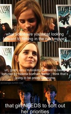 Emma Watson interview haha! one of my fav quotes from Ron!