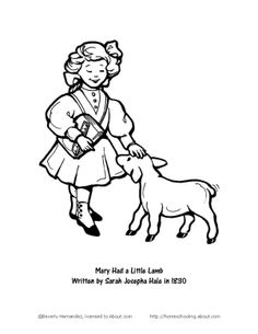 mary had a little lamb craft and coloring pages mary had a little lamb coloring