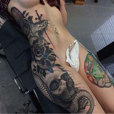Amazing body art !! Credit: @joaoboscoart ✨😍☠️ @danniievemaria