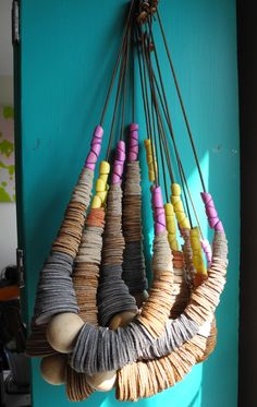 scrap leather and wooden beads?
