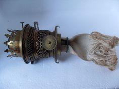 ERA patent brass key lift gallery oil lamp wick incandescent petroleum burner. This is the second variation of the first incandescent petroleum burner produced.