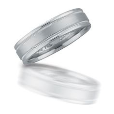 Platinum wedding ring by Novell.