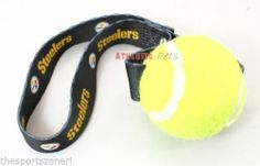 Pittsburgh Steelers Tennis Ball Pet Toss Toy #PittsburghSteelers Visit our website for more: www.thesportszoneri.com
