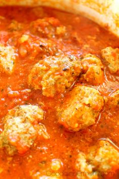 "Ultimate Meatballs with Tomato Sauce should be called ""Italian Heaven On Earth"" as this will become one of your favorite dishes, I guarantee it. Delicious served over pasta or makes the perfect meatball sandwich. This recipe requires some preplanning, but that can work to your advantage as well."