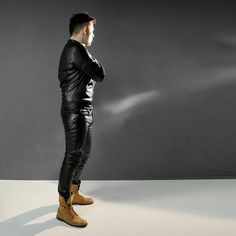#leather #leatherpants #leatherjeans #leatherjacket #gay #mangohim #bockle #bockleder