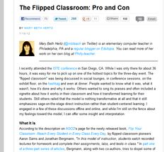 The Flipped Classroom: Pro and Con