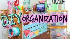 zie voor rekje op wieltjes onder bureau!  DIY Spring Organization + Room Decor! Get Organized For Spring!