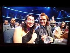 Sam and Cait at the 2015 People's Choice Awards..... Outlander won but we were jipped in the fact that the award was not presented on air.