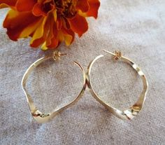 Gorgeous Wave Hoop by Wisteriaearrings on Etsy