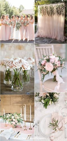28 Blush Pink and Green Wedding Color Ideas - Wedding Colors . 28 Blush Pink and Green Wedding Color Ideas – Wedding Colors Pink Wedding Theme, Spring Wedding Colors, Wedding Day, Pink Green Wedding, Pink Wedding Decorations, Camp Wedding, Space Wedding, Forest Wedding, Party Wedding