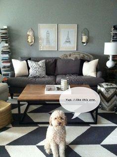 Living Room Rug - charcoal grey