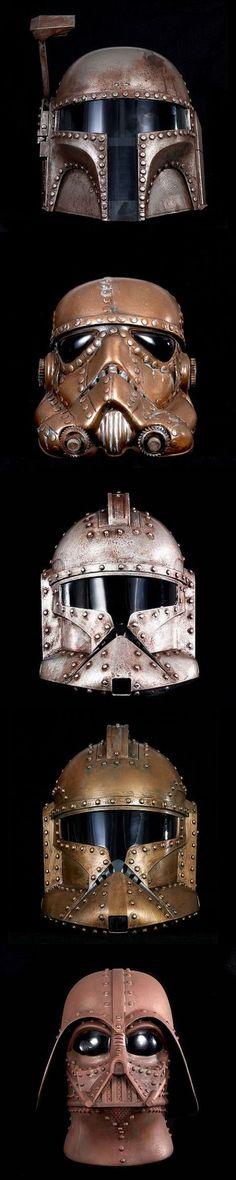 Steam Punk Star Wars, Metal Handmade Star Wars Masks, Star Wars Art.