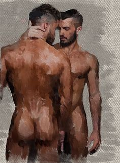 Sculptures, Paintings, Drawings and other. See also:My Attic For Gay Stuff: Pictures of gay love. But Is It Art, A Kind Of Magic, Painting Collage, Paintings, Wall Collage, Queer Art, Art Of Man, Mabon, Male Figure