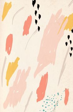 brush stroke print and texture with pink, coral, and marigold, print, texture, pattern