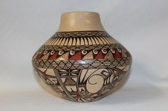 American Indian Art : Native American Hopi Pottery Jar, signed by Jofern Puffer
