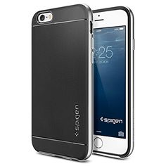 iPhone 6 Case, Spigen Neo Hybrid Case for iPhone 6 (4.7-Inch) - Retail Packaging -  Satin Silver (SGP11033) - http://www.rekomande.com/iphone-6-case-spigen-neo-hybrid-case-for-iphone-6-4-7-inch-retail-packaging-satin-silver-sgp11033/