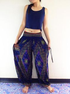 Women Harem Pants Yoga Pants Aladdin Pants Maxi by NaughtyGirlShop Gypsy Pants, Boho Pants, Hippie Pants, Maxi Pants, Harem Pants, Trouser Pants, Palazzo Pants, Older Women Fashion, Fashion Tips For Women