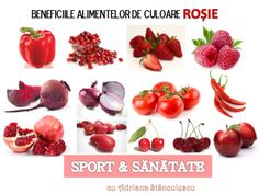 beneficiile alimentelor de culoare rosie For Your Health, Dory, Good To Know, Mai, Fruit, Vegetables, Healthy, Natural Antibiotics, The Body