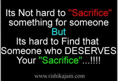 Its not hard to sacrifice something for someone but its hard to find that someone who deserves your sacrifice . Inspirational Quotes Pictures, Motivational Thoughts, Inspirational Thoughts, Love Quotes, Funny Quotes, Thinking Quotes, Hard To Find, Just For Laughs, You Changed