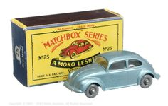 The South West Matchbox Collection | Regular Wheels | Vectis Toy Auctions Matchbox Regular Wheels No.25B Volkswagen Saloon