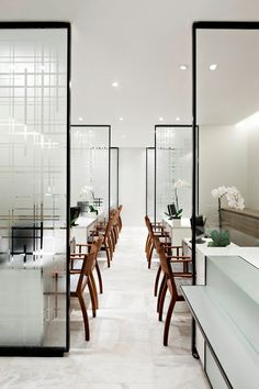 Le Printemps, Paris redesign, by Yabu Pushelberg Grey Interior Design, Commercial Interior Design, Commercial Interiors, Design Interiors, Design Food, Cafe Design, House Design, Hotel Restaurant, Restaurant Design
