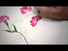 Learn How to Paint Carnations 2 - YouTube