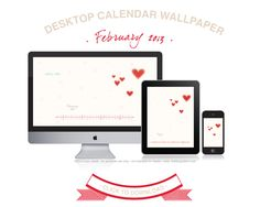 Wallpaper for your computer desktop (or iphone, etc) pretty red hearts on a calendar!     http://handmadesuccess.com/2013/02/february-desktop-calendar-from-the-languid-lion/comment-page-1/#comment-31841