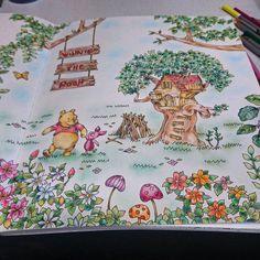 #大人の塗り絵 #旅するディズニー つかれた…まだあと半ページある
