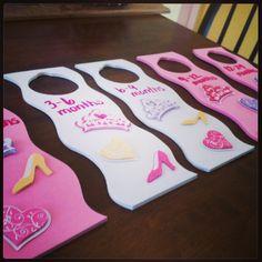 Princess themed closet dividers for the nursery!