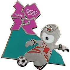 Price: $8.95 - London 2012 Olympics Wenlock Soccer Pin - TO ORDER, CLICK ON PHOTO
