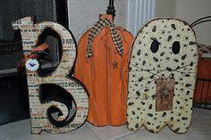 Boo Wood Decoration