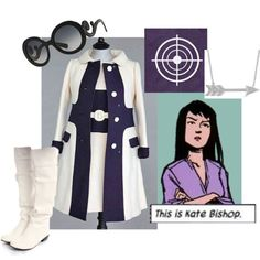 Kate Bishop by leclairedelune on Polyvore featuring moda, Allurez, Prada, Courrèges and vintage