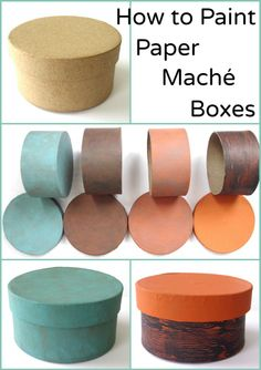 How to Paint Paper Maché Boxes: 4 easy examples