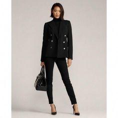 work uniform fashion Work Attire Women, Ralph Lauren Blazer, Blazer Vest, Cashmere Turtleneck, Ralph Lauren Collection, Dress For Success, Timeless Fashion, Clothes For Women, Jackets