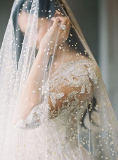 23 Unusual Veils For Every Bride To Stand Out: Pearl Veils #bridalwear; #pearls; #veil