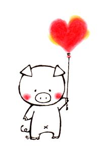 豚子ぶたのイラスト無料イラストフリー素材 かわいい豚の