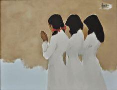 Nguyen Thanh Binh, 1954 ~ Minimalist Figurative painter | Tutt'Art@