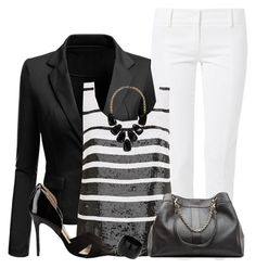 """""""Sequin Top"""" by daiscat ❤ liked on Polyvore"""