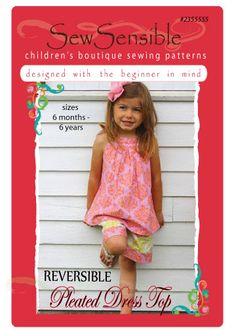 Children's Boutique Sewing Patterns for Beginners