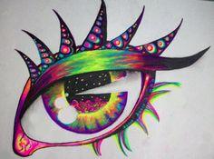 Dreaming of Sleep by nicostars on DeviantArt Trippy Drawings, Psychedelic Drawings, Art Drawings, Graffiti Wall Art, Mural Art, Eyes Artwork, Trippy Painting, Mushroom Art, Hippie Art