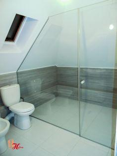 cabina de dus asimetrica, din sticla securizata Bathtub, Bathroom, Design, Cabin, Standing Bath, Washroom, Bathtubs, Bath Tube, Full Bath