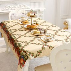 New Cloth Tablecloth Table Flag Toalha De Mesa For Wedding Decoration Decor Table Rectangular Printing For Christmas Decorations #Affiliate
